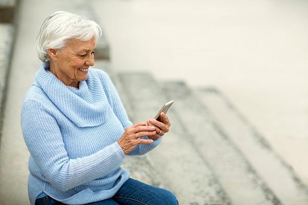 social media older woman